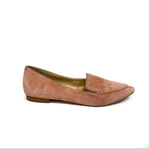 Sole Society Cammilia Suede Pink Loafer Flats